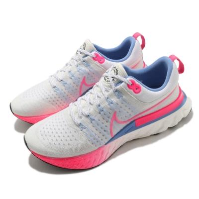Nike 慢跑鞋 React Infinity Run 男鞋 輕量 透氣 舒適 避震 路跑 健身 白 粉 DJ5191164