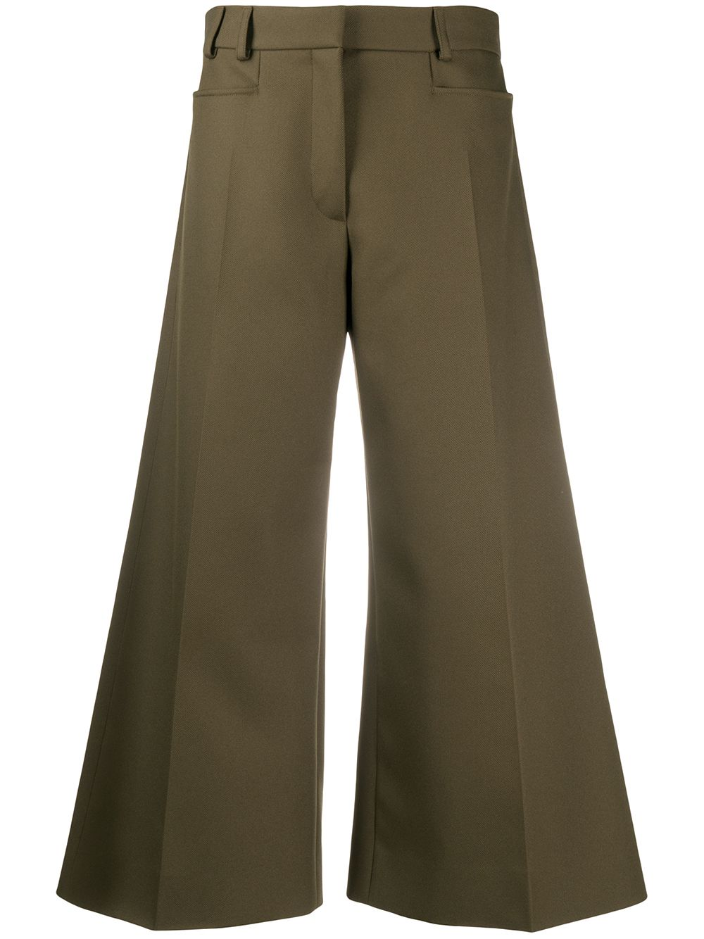 STELLA MCCARTNEY wide-leg cropped trousers