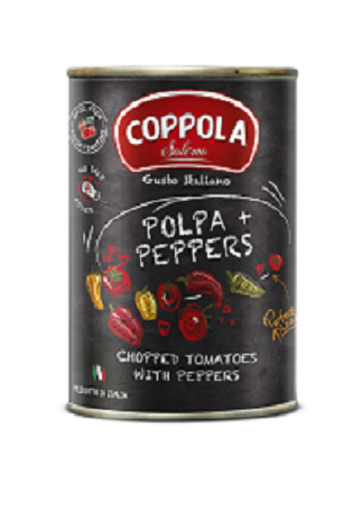 COPPOLA 甜椒切丁番茄基底醬(無鹽)COPPOLA POLPA + PEPPERS  400g