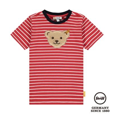 STEIFF德國精品童裝   條紋熊頭 短袖T袖衫