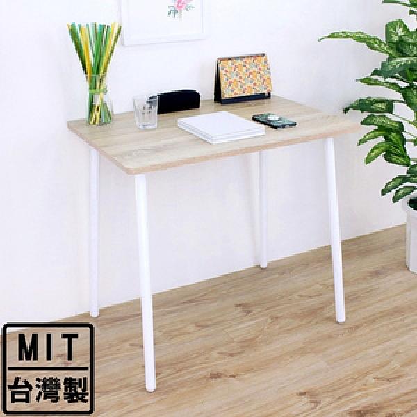 【頂堅】中型書桌/洽談桌/工作桌-寬80x深60x高76公分-三色可選原木色