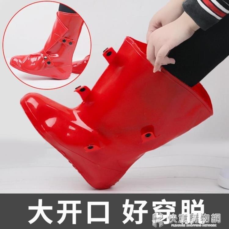 高筒鞋套防水雨天男女防雨防雪加厚防滑耐磨底兒童學生硅膠雨鞋套特惠促銷