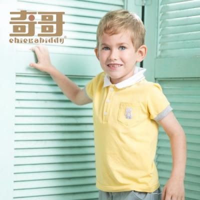 【限時滿額送玩樂劵】奇哥 夏日比得字母POLO衫-黃 (2-4歲)