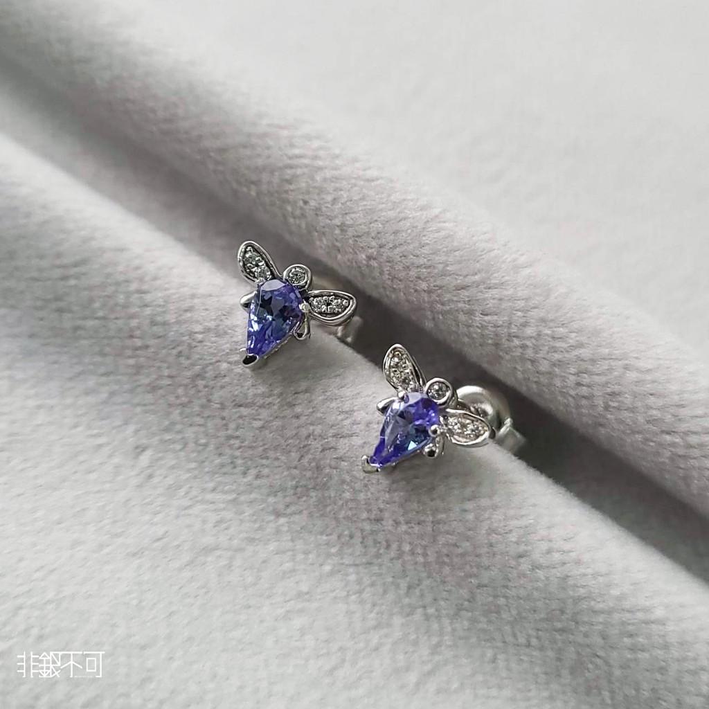 【非銀不可】丹泉石 純銀耳釘