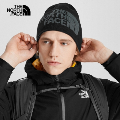 The North Face  舒適保暖休閒毛帽 黑灰-NF00A5WGGAN