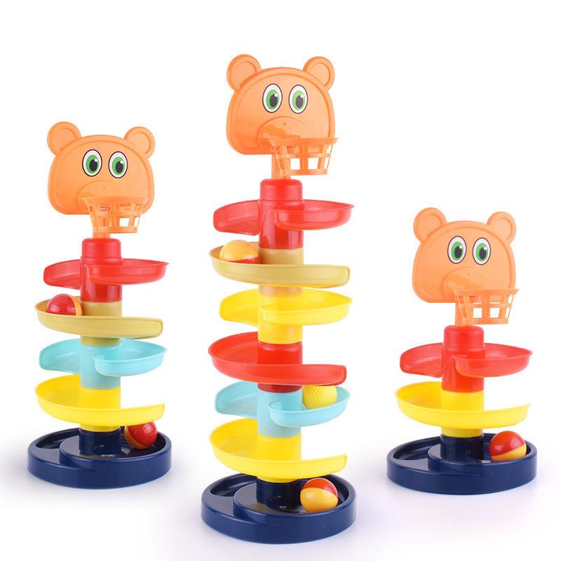 兒童 玩具 早教 1-2 玩具 轉轉樂 軌道 滑球塔 寶寶 智趣味 疊疊樂 益智趣味