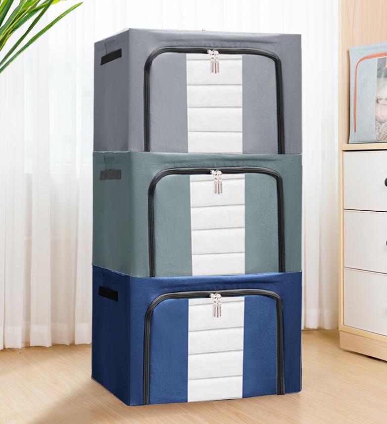 【免運超值3入組-加贈收納箱內墊3入】超大容量雙開防水牛津布收納箱100L