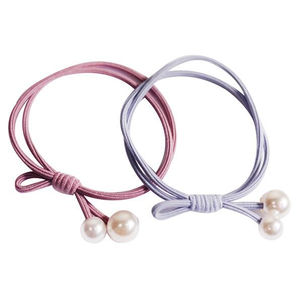G&G素色珍珠雙圈O束(顏色款式隨機出貨)【康是美】