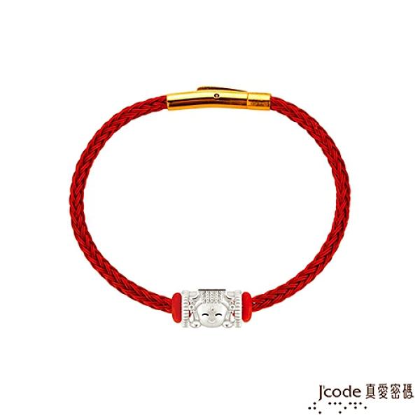 J'code真愛密碼銀飾 大甲媽 媽祖純銀/鋼編織手鍊