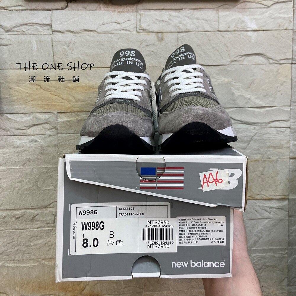 new balance nb 998 W998G made in USA 美製 美國製 灰色 元祖灰 復古 經典 慢跑鞋