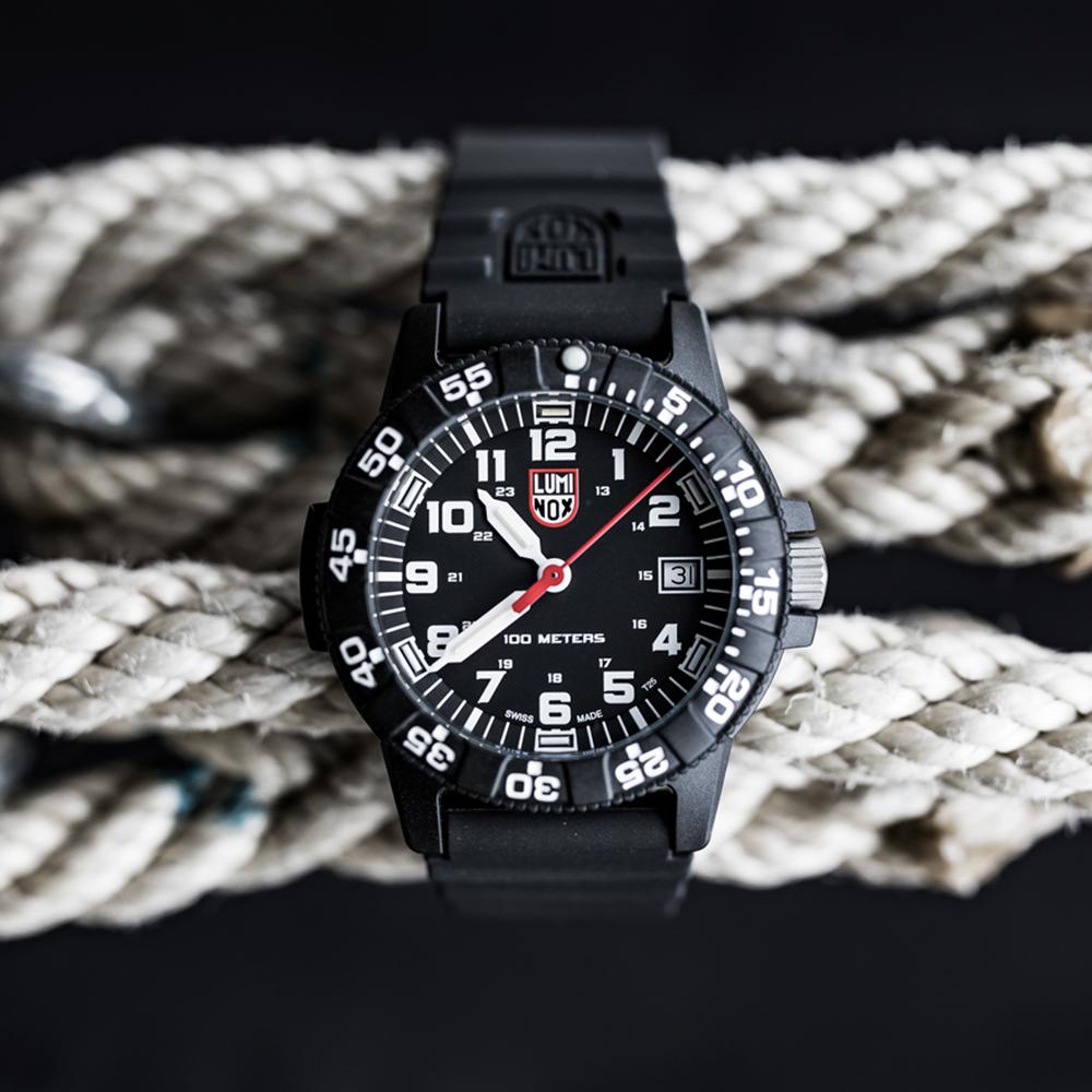 LUMINOX 雷明時SEA TURTLE 0300海龜系列腕錶-黑x白時標/39mm