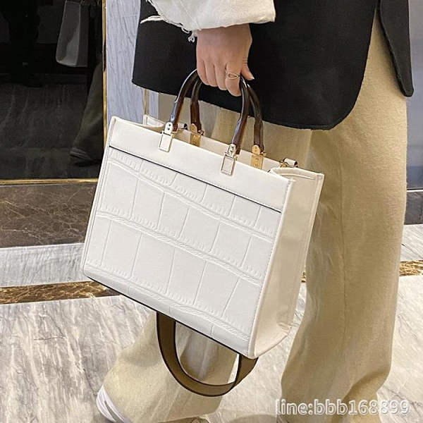 斜背包 石頭紋復古大容量包包女新款潮韓版手提包商務女士單肩斜背包 瑪麗蘇