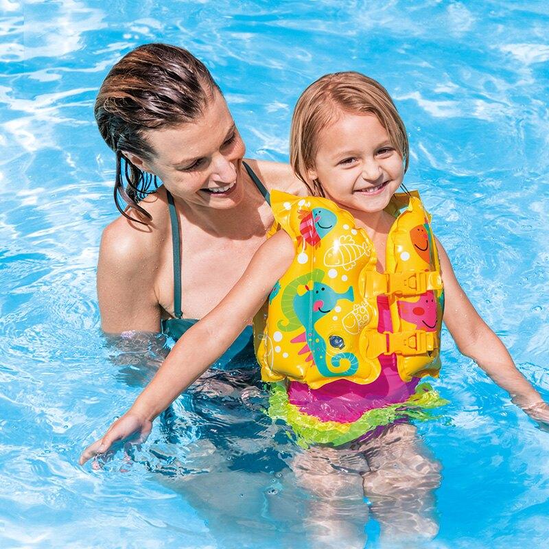 兒童救生衣浮力背心寶寶游泳裝備小孩手臂泳圈漂流馬甲泳衣
