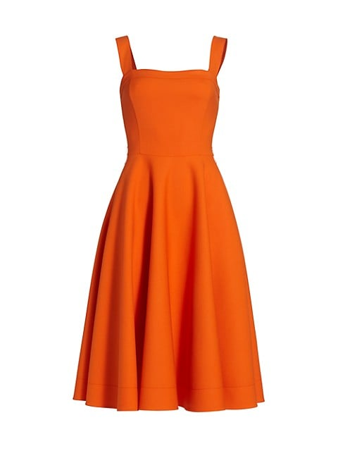 A-Line Double Face Sleeveless Dress