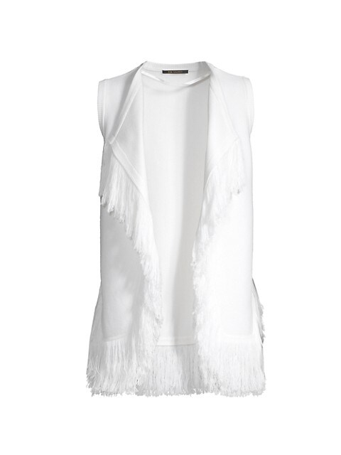 Brielle Fringe Knit Vest