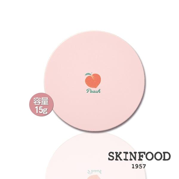 SKINFOOD蜜桃棉透感零油光蜜粉15g