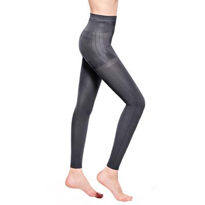 MOLLIFIX 瑪莉菲絲 3D極型拉提直紋9分塑身褲(時尚灰)
