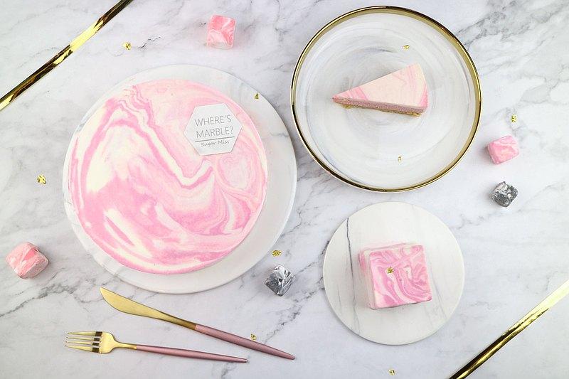 粉白大理石乳酪蛋糕6吋