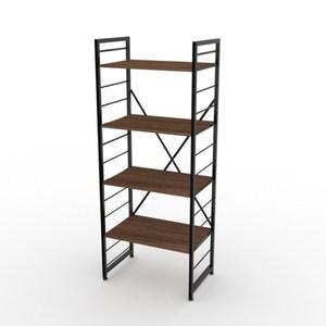 組 - 特力屋萊特 組合式層架 黑框/深木紋色 60x40x158cm
