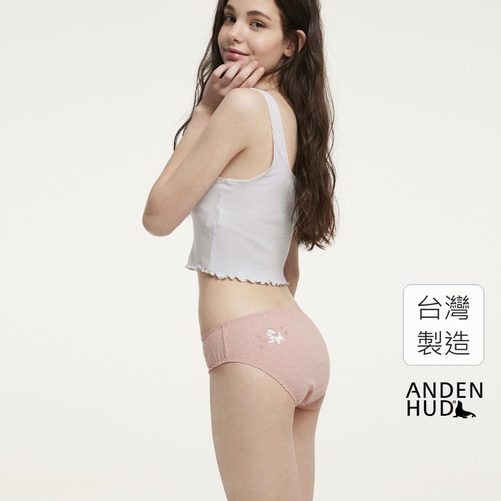 【Anden Hud】迪士尼粉紅季.花苞中腰三角內褲(粉點點-瑪莉貓搖屁股) 台灣製