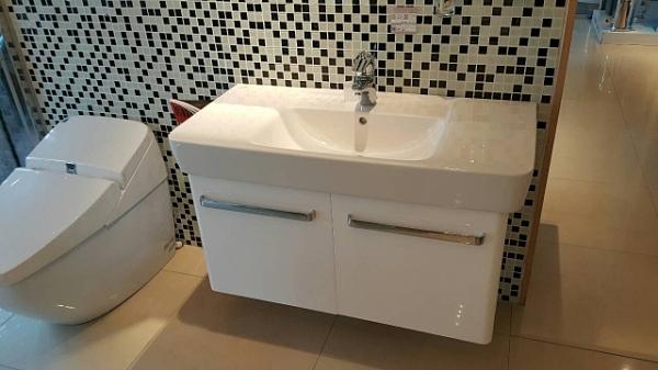 【麗室衛浴】德國KERAMAG PLAN系列 檯面盆 122100+防水發泡板浴櫃 93*44CM