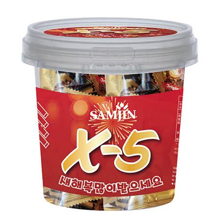 X-5花生巧克力捲心酥全家歡樂桶300g