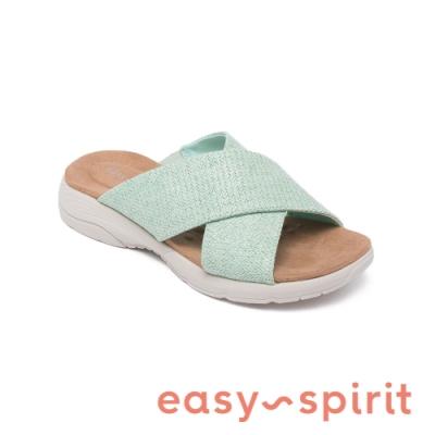 Easy Spirit-seTAITE2 舒適亮彩休閒涼拖鞋-粉嫩綠