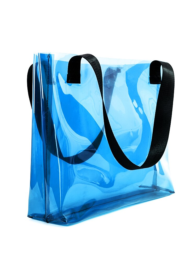 透明果凍包 透明包包女2020新款潮女包旅行袋定制logo韓版夏天百搭單肩果凍包 【CM2257】