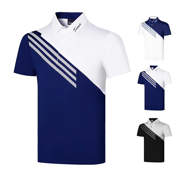 高爾夫 高爾夫短袖男士休閑運動上衣彈力透氣速干高爾夫男裝T恤短