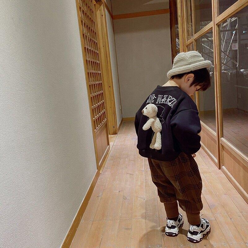 童褲2020冬裝新款韓版兒童雙層加厚靴褲寶寶加厚童裝褲子