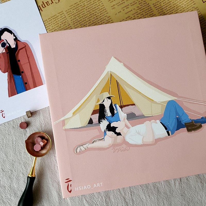 【無框畫】-似顏繪/客製化/紀念品/禮物