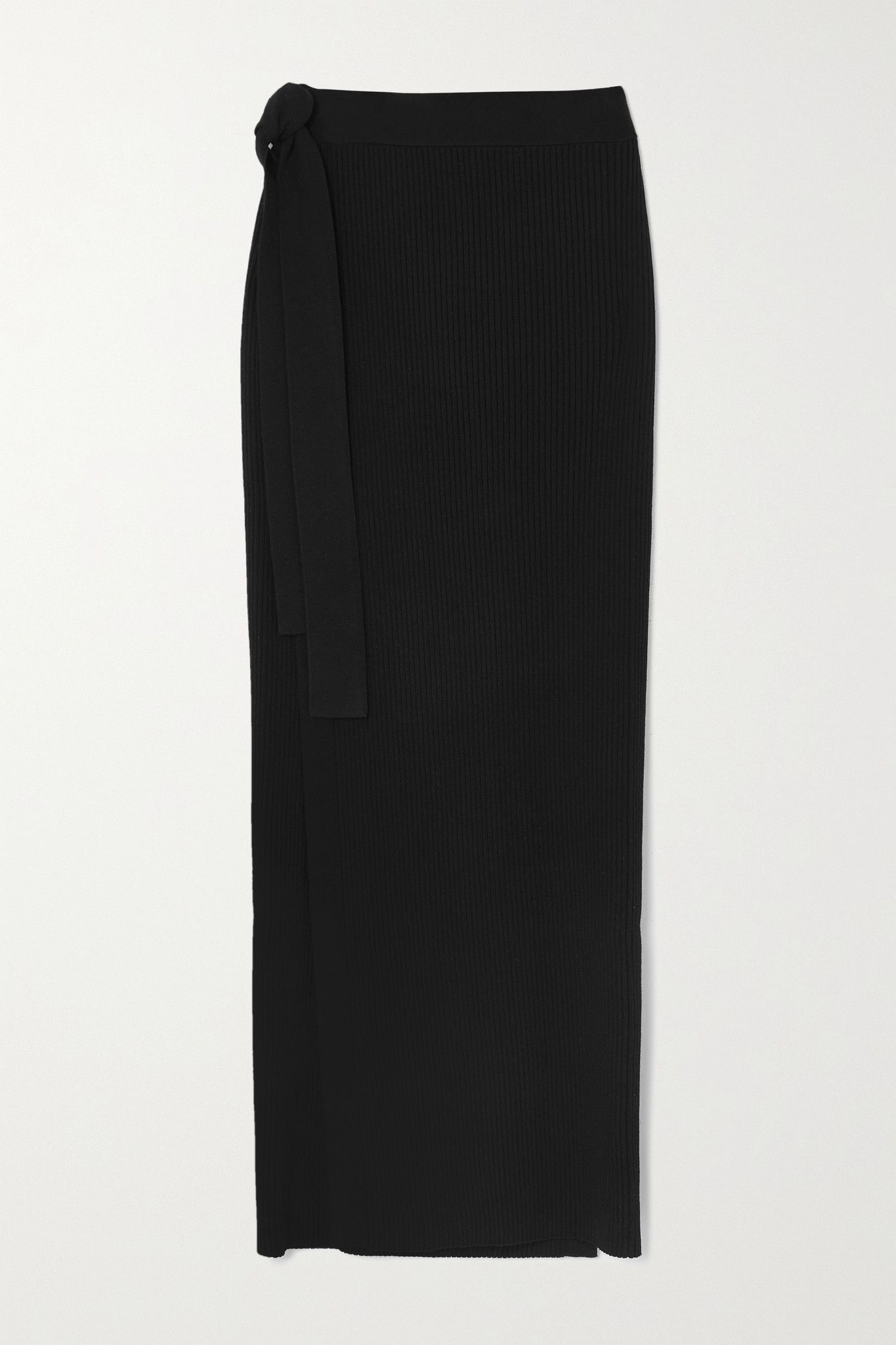 BY MALENE BIRGER - Fauris Ribbed-knit Midi Skirt - Black - small
