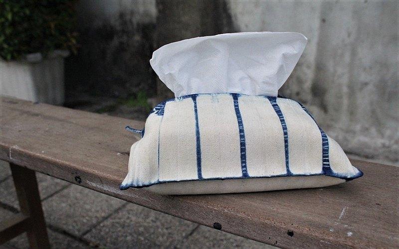 巧染手作 - 植物藍染面紙套