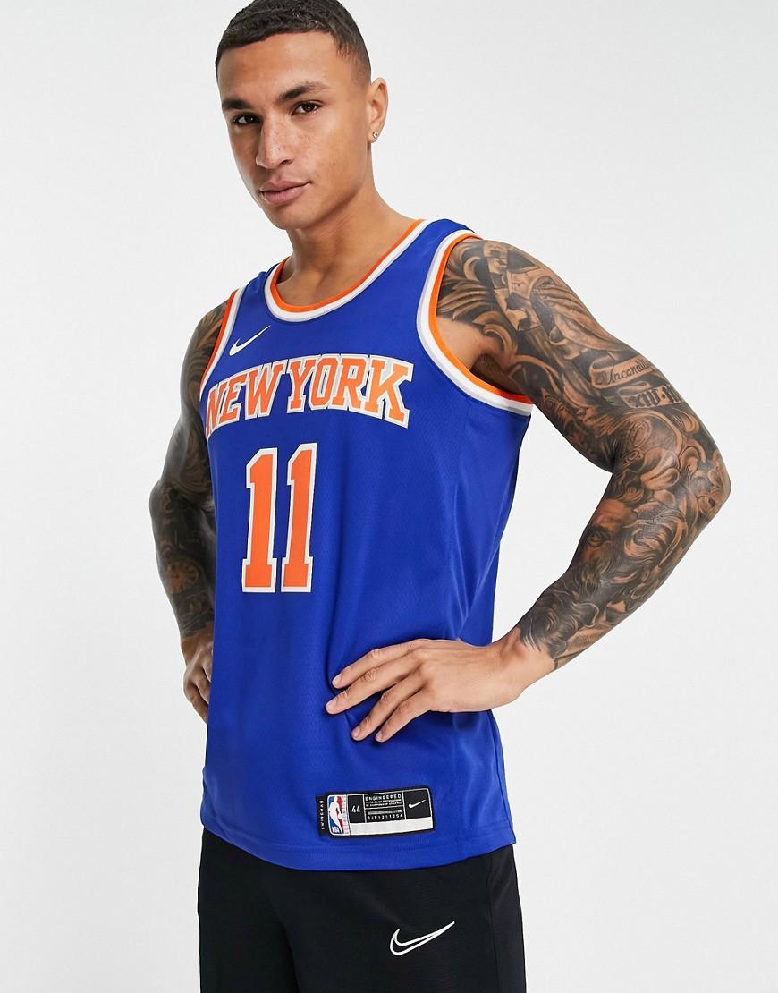 Nike Basketball New York Knicks NBA swingman jersey in blue