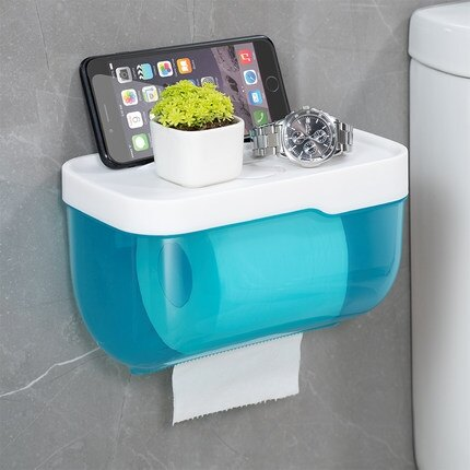 衛生紙架 衛生間紙巾盒防水免打孔廁所抽紙廁手紙盒衛生紙置物架創意捲紙盒