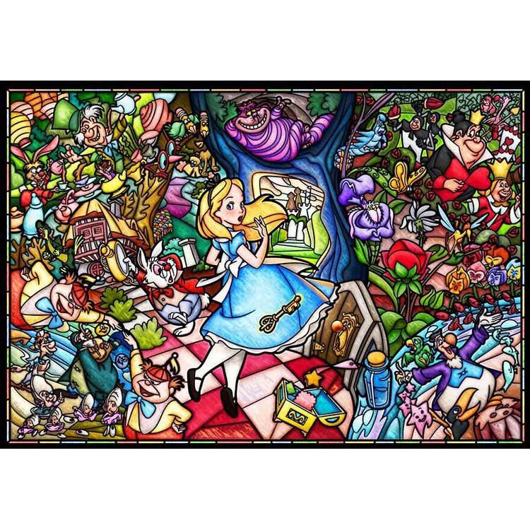Tenyo 愛麗絲夢遊仙境 1000P 拼圖總動員 迪士尼 純白 塑膠 日本進口拼圖