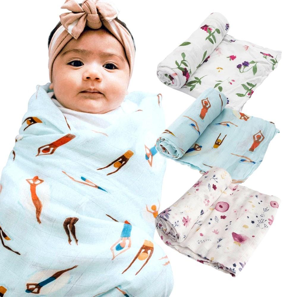【美國Little Unicorn】竹纖維四層紗多功能包巾 棉紗包巾 包巾 紗布巾(LAVIDA官方直營)