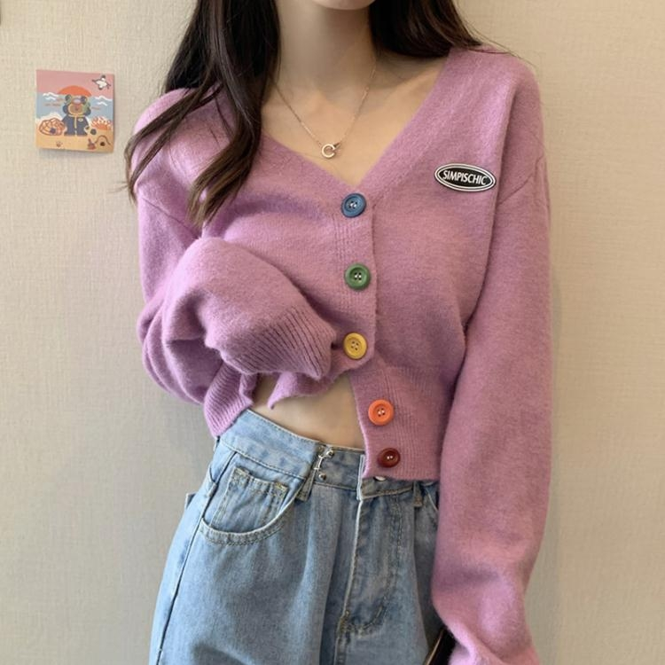 針織外套針織衫秋季冬新款女裝開衫外套新款復古港風寬鬆外穿日系毛衣