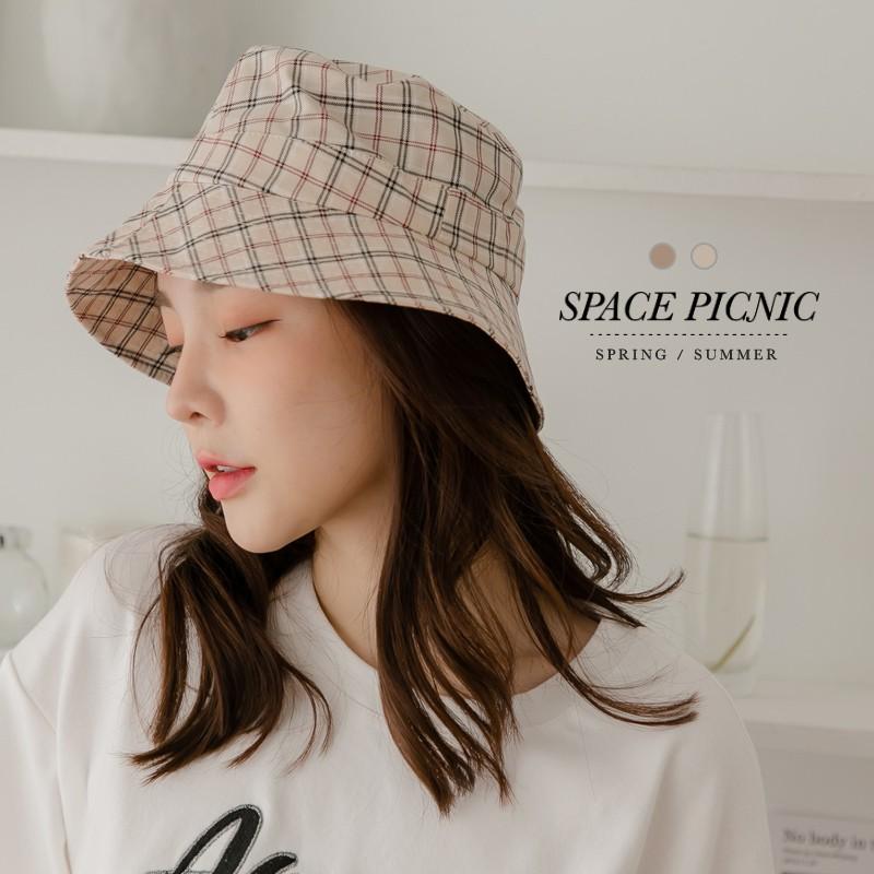 Space Picnic|格紋漁夫帽(現+預)【C21033013】