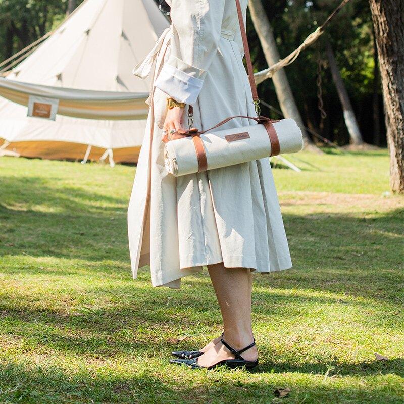 野餐墊戶外防潮墊便攜防水野炊地墊草坪墊子春游帆布野餐布ins風