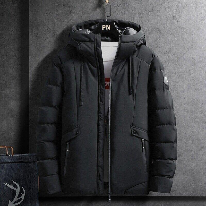 男士棉衣連帽外套2021新款韓版潮流羽絨棉服秋冬季加厚保暖棉襖子