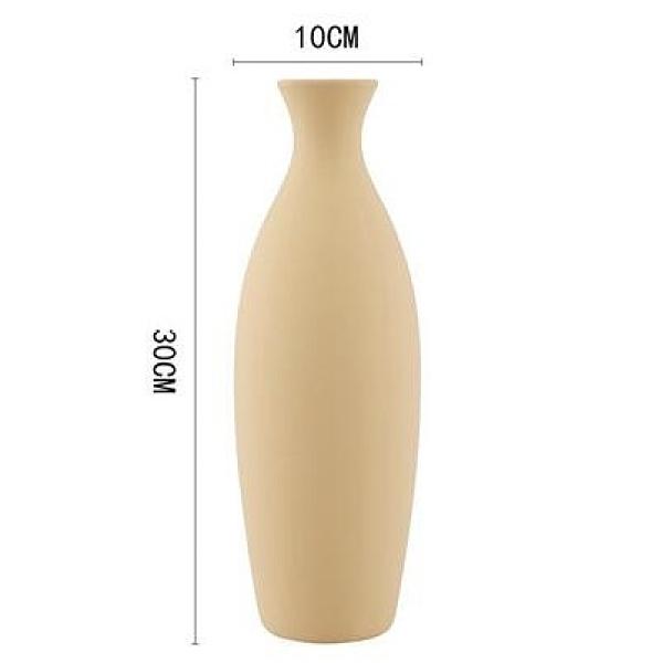 莫蘭迪色ins北歐陶瓷花瓶簡約風格 家居擺設裝飾客廳創意插花擺件  【夏日新品】