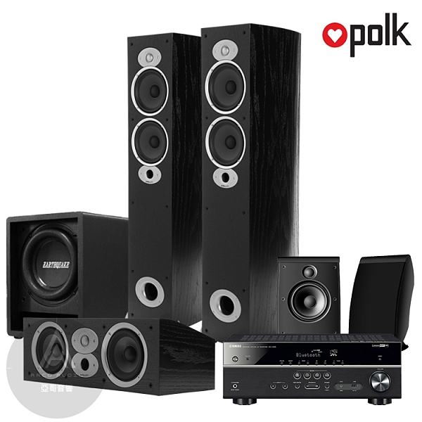 Polk Audio RtiA5 多聲道家庭劇院組 (山葉RX-V485/RtiA5/CsiA4/OWM3/FF6.5)
