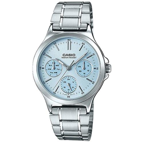 【下單抽・西堤雙人餐】CASIO 卡西歐 LTP-V300D-2A 甜美俏佳人活潑個性腕錶/水藍 LTP-V300D-2AUDF 熱賣中!