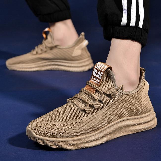 FOFU-運動風休閒跑步鞋透氣舒適輕便休閒前系帶塑膠軟底鞋【09S2696】