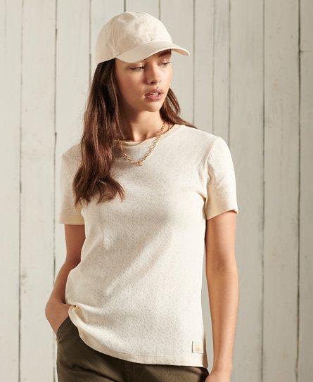 Superdry Cali Pointelle Crew T-Shirt
