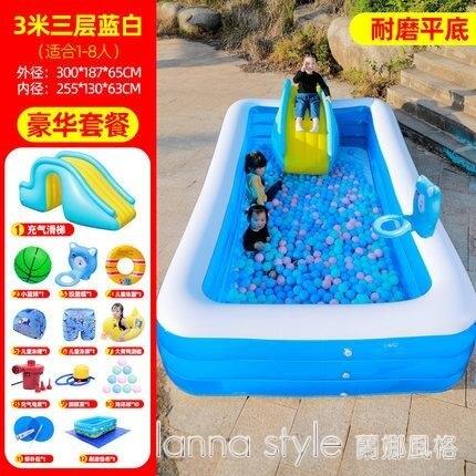 兒童充氣游泳池加厚家用小孩泳池嬰兒寶【薇格嚴選】