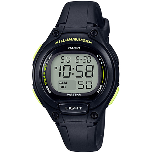 【下單抽・西堤雙人餐】CASIO 卡西歐 LW-203-1B 簡單輕巧十年電力電子錶/黑x黑 LW-203-1BVDF 熱賣中!