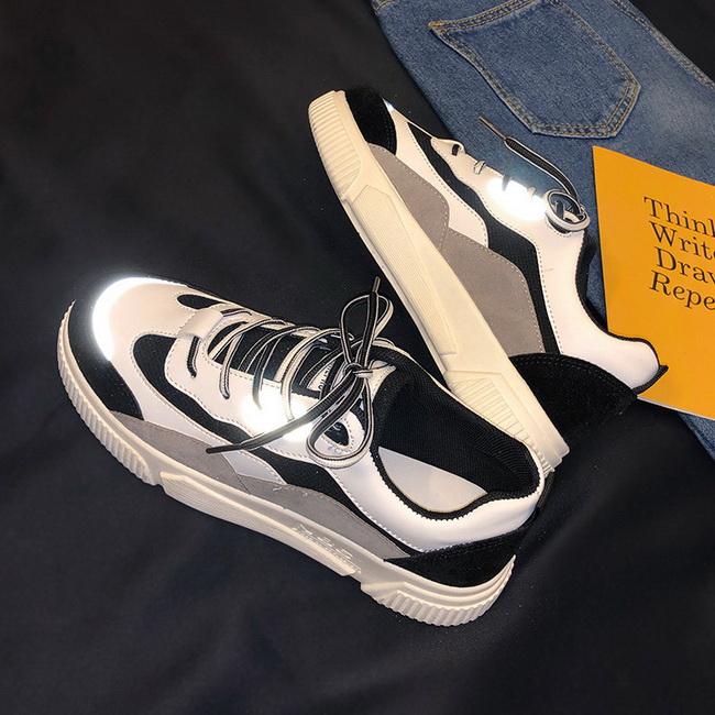 FOFU-(任二雙888)透氣帆布小白板鞋韓版潮流休閒運動老爹潮鞋【09S2660】