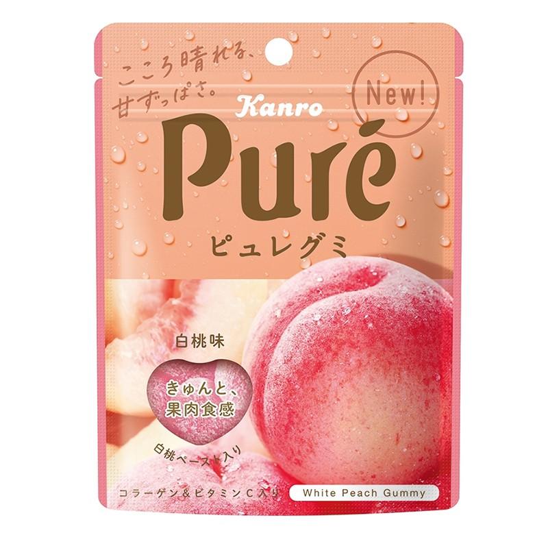 【Kanro】日本最新PURE白桃軟糖 桃味軟糖-丹尼先生雜貨舖